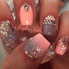 "Be Inspired ✨ on Instagram: ""Follow @fiercesociety for the best inspiration ! ✨ @_stephsnails_ --------------------------------------------------------- #nails #nail #notd #style #hudabeauty #beauty #beautiful #instagood #pretty #girl #girls #stylish #sparkles #nailporn #gliter #nailart #opi #essie #unhas #preto #branco #rosa #love #shiny #polish #nailpolish #nailswag #anastasiabeverlyhills #vegas_nay #wakeupandmakeup"""
