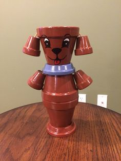 Flower Pot Dog / Pot Person Planter / by RusticMtnGirlCrafts