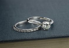 Moissanite Engagement Ring Solitaire by DiorrahJewellery on Etsy