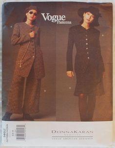 size 40 aa60e 3f686 Donna Karan Vogue 1462 Misses Jacket,Skirt,Pants sz 6,8,10
