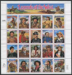 US Legends of the West 1994 Postage Stamp Mini Sheet Issue Charles Goodnight, Westerns, Nature Sauvage, Commemorative Stamps, Going Postal, Ceremony Programs, Vintage Stamps, Rare Stamps, Le Far West