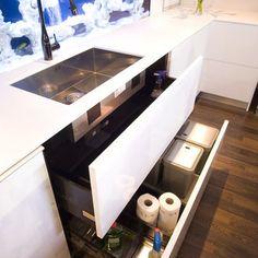 Under Sink Drawers by Glenvale Kitchens via houzz  #Kitchen_Storage