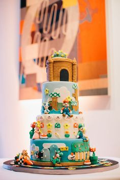 A Great Super Mario Cake Jerry Yoon Photographers Stephanie Jim S Wedding In San Francisco The Zoots Cool Stuff