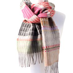 WALLACE & SEWELL SCARVES - Distinguished by their striking woven fabrics, utilising colour and structure in innovative ways, Wallace & Sewell designs include a wide range of materials from silk to chenille and lambswool.