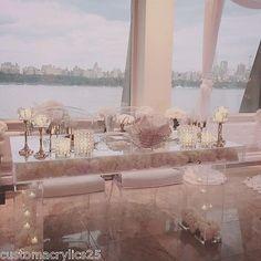 (Sponsored Link) Modern Clear Acrylic Modular Bridal/Sweetheart Table x x Wedding Chairs, Wedding Table, Reception Table, Fireplace Mantel Surrounds, Wedding Venues Toronto, Wedding Dress Preservation, Acrylic Furniture, Acrylic Table, Bridal Table