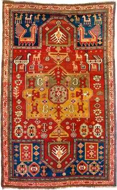 Kazak Fachralo Double Niche Prayer Rug