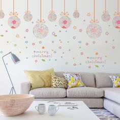 Merry Christmas Removable Wall Sticker Decal Home Shop Window Decor Mural SK9071