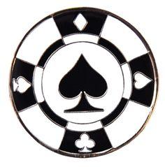 Mark Your Spot Diamond Poker Chip Ball Marker! Perfect for casino night!