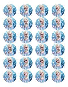 Congelados, congelados la fiesta de cumpleaños, 24 etiquetas piruleta congelado…