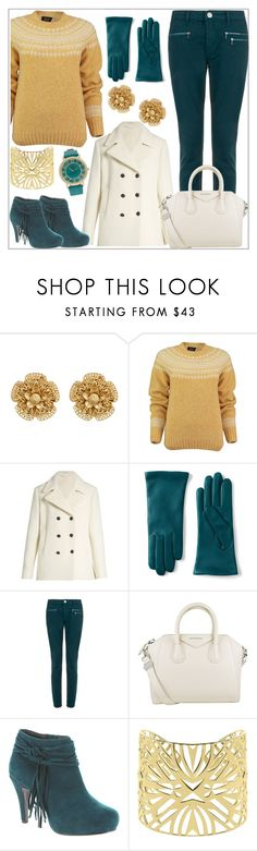 """""""Mustard, Teal and Ivory Contest"""" by tlb0318 ❤ liked on Polyvore featuring Miriam Haskell, Lowie, Tomas Maier, Lands' End, dVb Victoria Beckham, Givenchy, Beacon and Vélizance"""