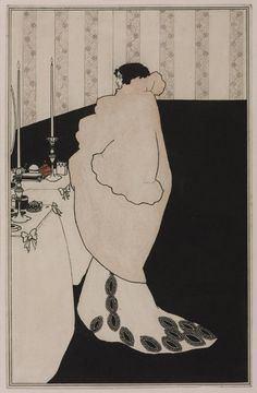"""La Dame aux Camelias"" (Aubrey Beardsley, 1894)."