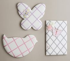 Shaped Ribbon Board, Lavender Butterfly $49 Pottery Barn Kids