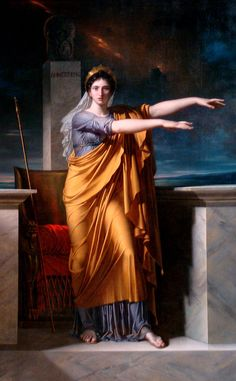 """Charles Meynier: """"Polyhymnia, Muse of Eloquence"""", 1789-1800, oil on canvas, Cleveland Museum of Art."""