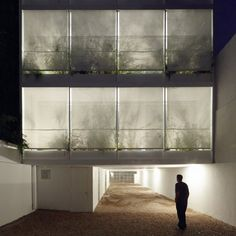 Once Building by Adamo-Faiden - planted screen facade We could put our garden like this! Gothic Architecture, Facade Architecture, Contemporary Architecture, Decoration Inspiration, Building Facade, Arch Building, Building Ideas, Facade Design, Dezeen