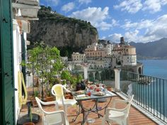 Atrani, Italy...our room and wonderful breakfast with a view!!