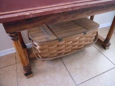 Large old slat picnic basket from my collection!