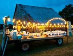 MUST do lights in the trees... maybe hang mason jars with tealights