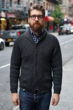 large men's fashion cardigan - Google Search