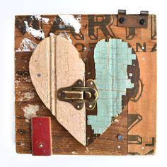 Heart ༺♥༻  art by ElizabethRosenArt at Etsy