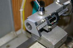 A $24.00 digital caliper turns into a tailstock DRO
