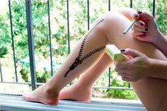 Tatto Tights  Zipper Size MEDIUM by tattotights on Etsy, $22.00