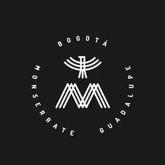 M x G x B #bogota #logo #cerro #monserrate #guadalupe #diseño  #águila #montaña…