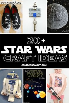 The best collection of over 20 Star Wars craft ideas! Includes costumes, shoes, home decor DIY, paper crafts, crochet, and much more!