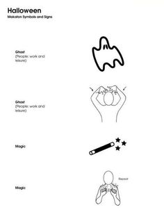 Makaton Signs, Sign Language Words, Bsl, Eyfs, Primary School, Halloween, Dibujo, Upper Elementary, Elementary Schools