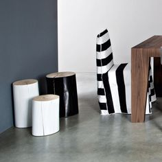 gervasoni_navone_log_table_stool_9 Eames, Log Side Table, Dining Chairs, Design, Stools, Furniture, Surf, Outdoor, Natural