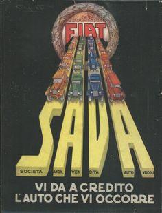 Cartoncino FIAT S.A.V.A. Codognato Pubblicità d'epoca non datato