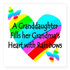 "#1 GRANDDAUGHTER Square Sticker 3"" x 3"""