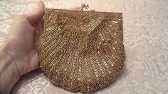 Walborg Handbeaded Vintage Cocktail purse/ Evening Bag Small