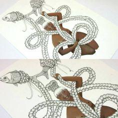 """""""Fishing #illustration #maori #fishillustration"""""""