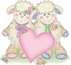 Sheep will give heart Blue Nose Friends, Cute Animal Illustration, Cute Sheep, Sheep And Lamb, Little Bo Peep, Tatty Teddy, Illustrations, Scrapbook Cards, Baby Pictures