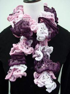 FREE Knitting Pattern - Free Euro Yarn FLUFFY SCARF Pattern