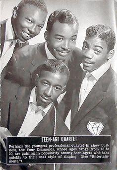 Teenage Quartet, The Diamonds - Jet Magazine, October 22, 1953