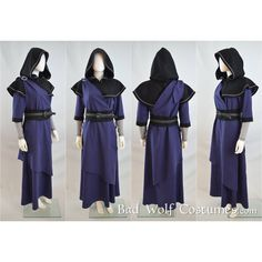 Skyrim Cosplay Mage Costume Elder Scrolls, Skyrim, fantasy, mage robe,... ($415) ❤ liked on Polyvore featuring costumes, role play costumes, blue costumes, sash belt, cosplay halloween costumes and blue halloween costumes