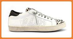 P448 , Damen Sneaker weiß Bianco, weiß - Bianco - Größe: 40 - Sneakers für frauen (*Partner-Link)