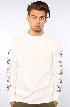 The Pirate Chain L/S Tee in White by Fourstar Clothing