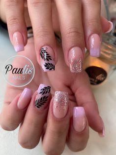 Acrylic Nail Designs, Acrylic Nails, Cow Nails, Autumn Nails, Flower Nails, Press On Nails, Nail Manicure, Nails On Fleek, Simple Nails