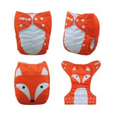 Alva One Size Cloth Diaper Pocket Reusable Washable Nappy +1insert Fox Refer To The Picture Yd82 China 3-15 Kg Polyester No