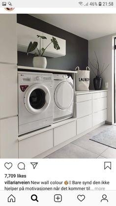 Laundry Room Layouts, Laundry Room Storage, Laundry Room Design, Laundry In Bathroom, Small Bathroom, Küchen Design, House Design, House Wash, Mallard