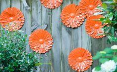 gartenideen blumen gartenzaun dekorieren orange