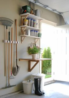 DIY Projects Your Garage Needs -Garage Garden Station - Do It Yourself Garage Makeover Ideas Include Storage, Organization, Shelves, and Project Plans for Cool New Garage Decor http://diyjoy.com/diy-projects-garage