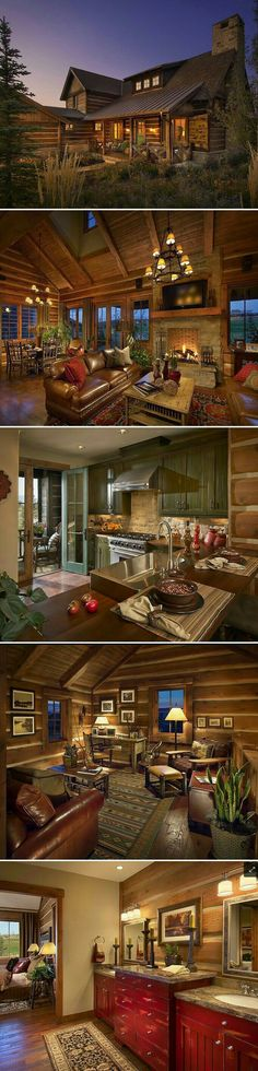 Wholesale Log Homes is the leading wholesale provider of logs for building log homes and log cabins. Log Cabin Kits and Log Home Kits delivered to you. Log Cabin Homes, Log Cabins, Cabins And Cottages, Rustic Design, Cabin Design, Cabins In The Woods, House Goals, My Dream Home, Dream Homes