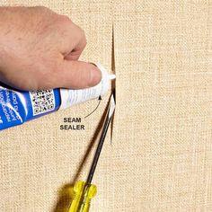 Fix a Wallpaper Seam - 10-Minute House Repair and Home Maintenance Tips: http://www.familyhandyman.com/smart-homeowner/diy-home-improvement/10-minute-house-repair-and-home-maintenance-tips#9
