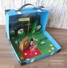 Reise ins Tirol Geschenkkoffer Koffer Reisegutschein Gutschein Geschenkverpackung