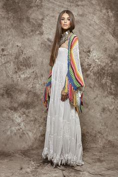 Toquilla de ganchillo multicolor - 190,00€ : Zaitegui - Moda y ropa de marca para señora en Encartaciones