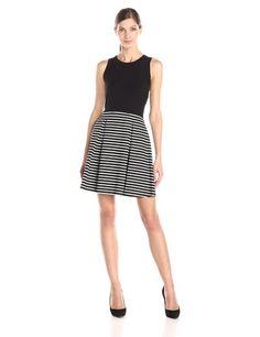 9ba5475a2 Karen Kane Women s Contrast Stripe Dress