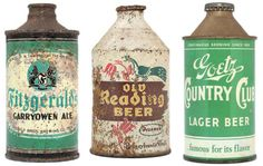 a collection of cans #vintage #typography